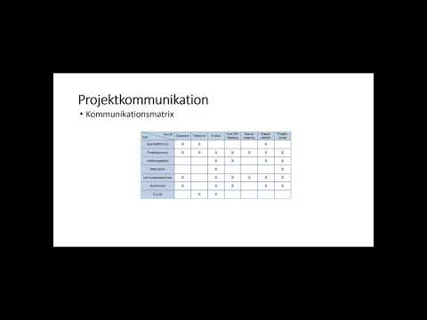 Projektmarketing - Kommunikationsmatrix